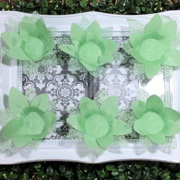Forminhas De Doces Finos Verde festas