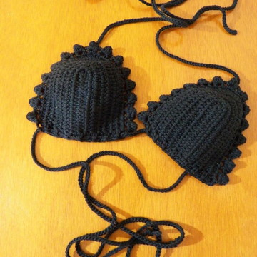 Bikini Preto Crochet