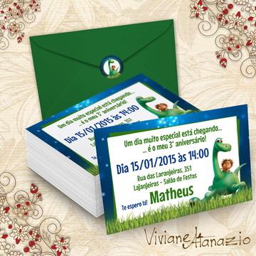 Convite O Bom Dinossauro - 00320