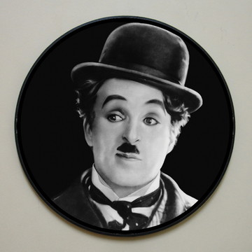 Quadro redondo Chaplin (rosto)