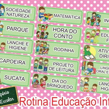 Fichas Para Rotina Educação de Infantil
