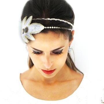 Headband Noiva Flor
