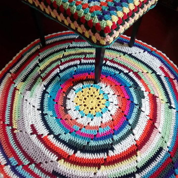 Tapete de crochet mandala .(rustico)