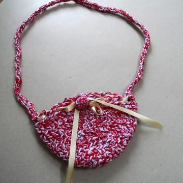 bolsa infantil de crochê com lacinho