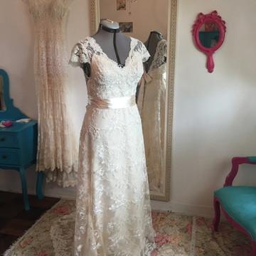 Vestido de noiva champanhe