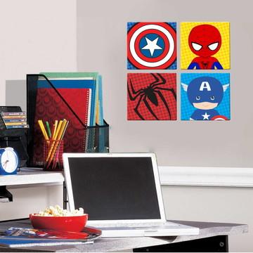 Quadros Decorativos - Heróis 4 uni