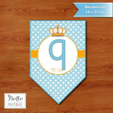 Bandeirola Príncipe Coroa Azul
