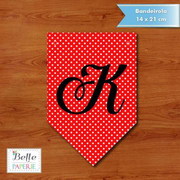 Bandeirola Poá Vermelha