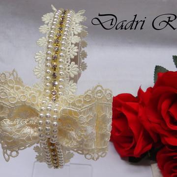 tiara de Luxo Renda Perola