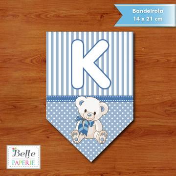 Bandeirola Ursinho Azul