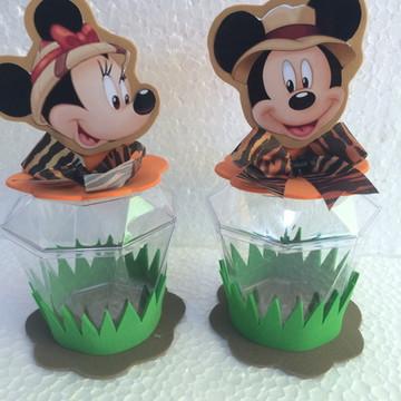 Lembrancinha Mickey e Minnie Safari