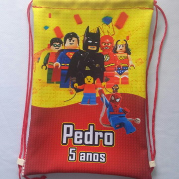 Mochilas ou Sacolas Tema Lego