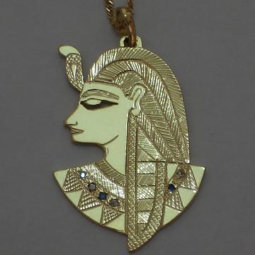pingente Deus Ptah prata