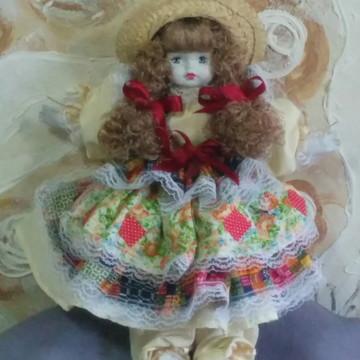 Boneca de Porcelana Caipira