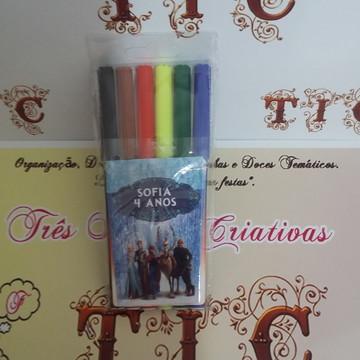 Canetinha Personalizada 6 cores