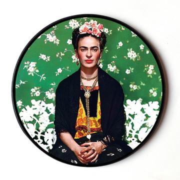 Quadro redondo Frida Kahlo