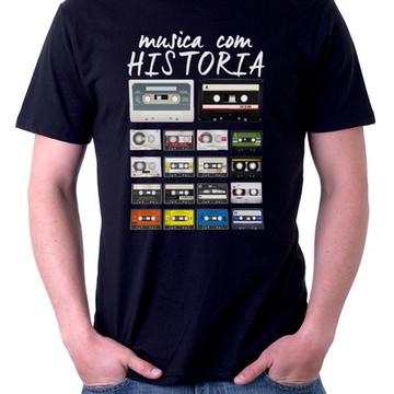 fa85a2d0a2 Camiseta Feminina Fita de Musica Retro