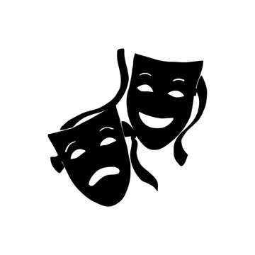 Adesivo Mascara Teatro Cênico 10x10cm