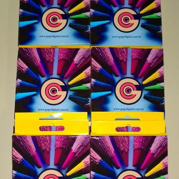 Caixinha de lápis de cor personalizado