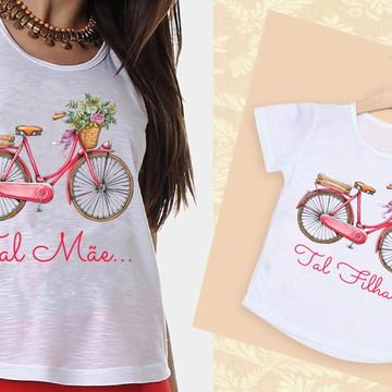 Camisetas Mãe e Filha Bicicleta