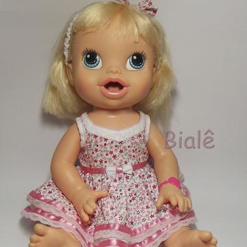 3335d8ae27 Vestido Tiara Baby Alive Machucadinho