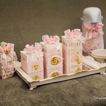 Kit higiene anjo dourado