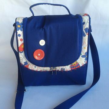 Bolsa para bebê menino azul