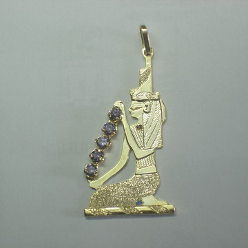 Pingente Deusa Isis ametista nat. prata