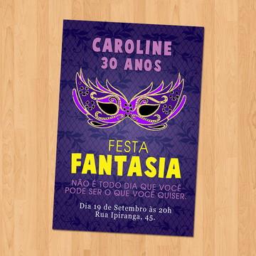 Convite - Festa Fantasia