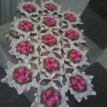 Trilho de mesa flor rosa