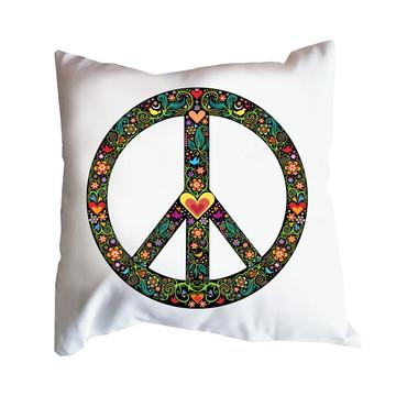 Almofada Símbolo da Paz Preto ou Branco