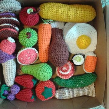 BOX MASTER 28 Ítens Comidinha Crochet