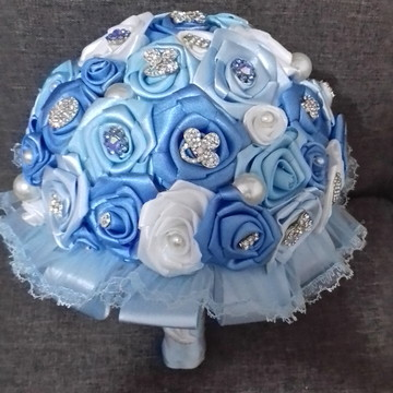 Buque de noiva Tons de azul