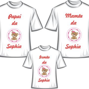 Camisetas Personalizadas para Aniversario Ursinha