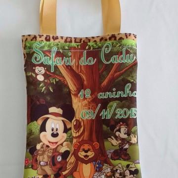 Mochilas ou Sacolas Tema Mickey Safari