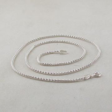 Corrente de prata pipoca , 50 cm