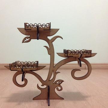 Árvore com mini bandejas provençal MDF