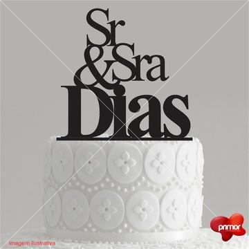 Topo de Bolo Sr. e Sra.