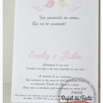 Convite Casamento Campo