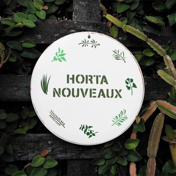 Placa para horta personalizada