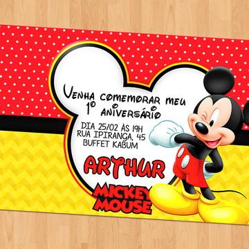 Convite - Tema Mickey