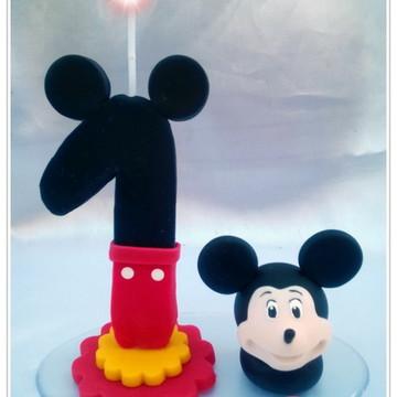 Vela Mickey com rostinho 1 ano