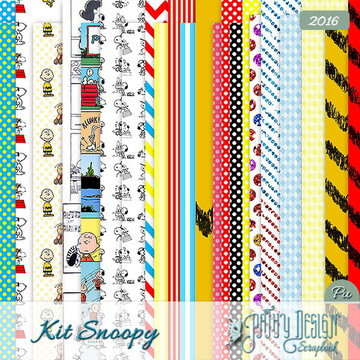 Kit Scrapbook Digital Snoopy