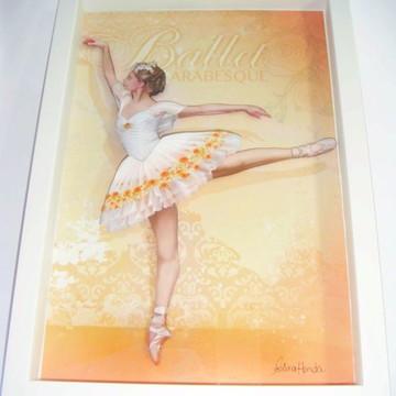 Quadro arte francesa Bailarina flores