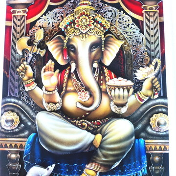 Quadro arte francesa Ganesha
