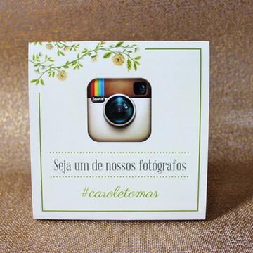 3 Plaquinhas Instagram - Romântico