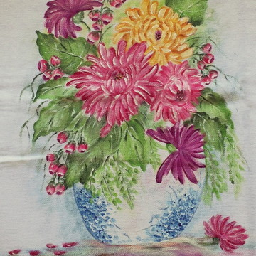Pano de prato: Vaso de flores