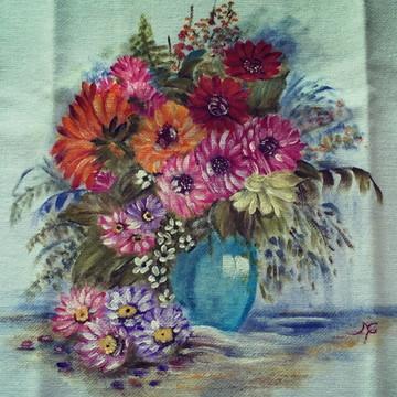 Pano de prato: Vaso com flores
