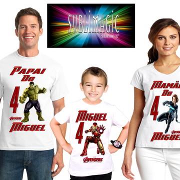 KIT 3 Camisetas Vingadores