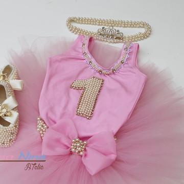 Conjunto primeiro aninho Princesa